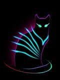 Неоновый кот Стоковые Фотографии RF