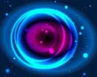 Неоновый круг Стоковое фото RF