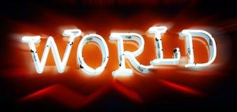 неоновый мир Стоковая Фотография RF