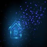 Неоновый дом Стоковое Изображение RF