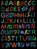 неон алфавита Стоковые Фотографии RF