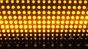 Неон золота накаляя объезжает абстрактную петлю предпосылки VJ движения