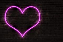 неон сердца Стоковые Фотографии RF