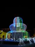 неон фонтана Стоковые Фото