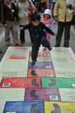 Неопознанные дети на празднике в городе Ла Paz Стоковая Фотография RF