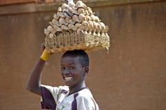 Неопознанные дети, Уганда Африка Стоковое Изображение