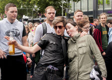 Неопознанные участники во время парада гей-парада Стоковые Изображения