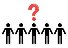 Неопределенность и социальная группа людей Стоковые Фото