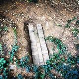Неотмеченная могила Секретное кладбище Стоковые Изображения