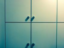Неотмеченные шкафчики Стоковая Фотография