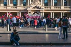 Неофициальная встреча в поддержку узнавать турецкий геноцид в Armen стоковая фотография