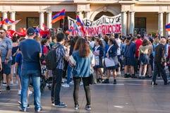 Неофициальная встреча в поддержку узнавать турецкий геноцид в Armen стоковое изображение rf