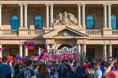 Неофициальная встреча в поддержку узнавать турецкий геноцид в Armen стоковые изображения