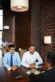 Неофициальное заседание на ресторане Стоковое фото RF