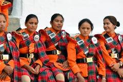 Непальский воинский оркестр Стоковая Фотография