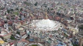 Непал, Катманду Stupa Boudhanath E акции видеоматериалы