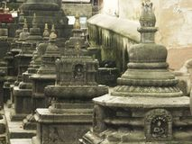 Непал - висок обезьяны Стоковое Изображение RF