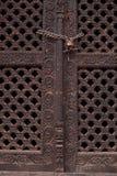 Непальская дверь стоковое фото rf