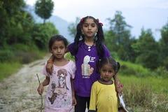Непальские девушки Стоковое Фото