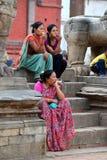 Непальские женщины в традиционных одеждах Стоковые Фото