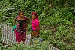 Непальские женщины, Chitwan, Непал Стоковые Изображения RF