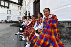 Непальский воинский оркестр Стоковое фото RF