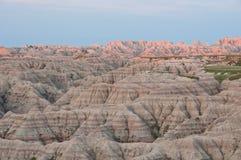 неплодородные почвы большие обозревают восход солнца Стоковое Изображение