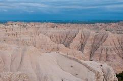 неплодородные почвы обозревают заход солнца башенк Стоковое фото RF