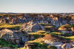Неплодородные почвы парка динозавра захолустного в Альберте, Канаде Стоковые Изображения RF