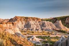 Неплодородные почвы парка динозавра захолустного в Альберте, Канаде Стоковое фото RF