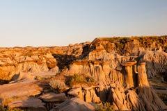 Неплодородные почвы парка динозавра захолустного в Альберте, Канаде Стоковое Изображение