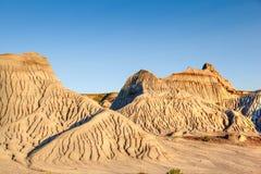 Неплодородные почвы парка динозавра захолустного в Альберте, Канаде Стоковая Фотография RF
