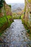 неплодородные почвы bagnoregio civita di взгляд Стоковое Фото