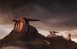 Неплодородные почвы Bisti, Неш-Мексико, США Стоковая Фотография