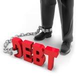 непогашенный долг Стоковая Фотография RF