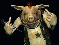 непослушная свинья Стоковые Фото