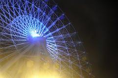 Неподвижное колесо ferris с черным небом, ¼ ŒBeijing parkï занятности Shijingshan, Китай Стоковые Изображения