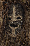 Неподдельное африканское фото крупного плана маски Стоковое фото RF