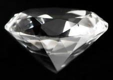 Неподдельный ясный большой кристалл диаманта иллюстрация вектора