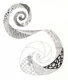 Неполная свирль zentangle Стоковые Фото