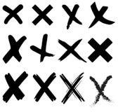 Неправильные неправильные перекрестные знаки Стоковое Изображение