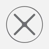 Неправильная метка линия значок вектора икона x иллюстрация штока
