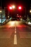 Неправильный путь на ноче Стоковые Изображения