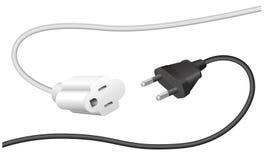 Неправильный удлинительный кабель штепсельной вилки Стоковое Фото