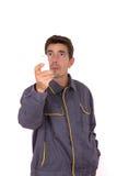 Неправомочный работник человека Стоковое Фото