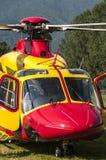 непредвиденное спасение вертолета Стоковые Фото