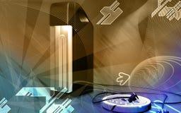 непредвиденный фонарик иллюстрация штока