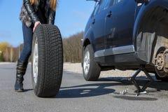 Непредвиденная авария на дороге Стоковые Фотографии RF