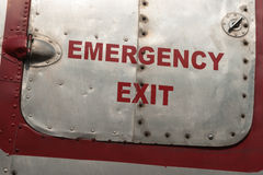Непредвиденная входная дверь винтажного воздушного судна Стоковые Фото