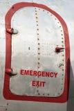Непредвиденная входная дверь старого воздушного судна Стоковая Фотография